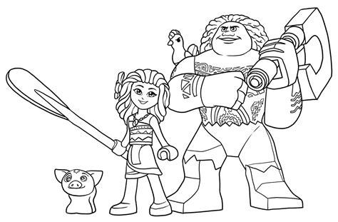 Gamis Moana Syari lego disney princess coloring pages coloring page