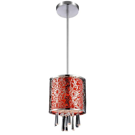 round fabric shade pendant light brizzo lighting stores 6 quot drago modern crystal round mini