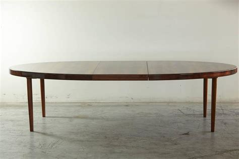 oval dining tables with extensions rosewood oval extension dining table by johannes andersen