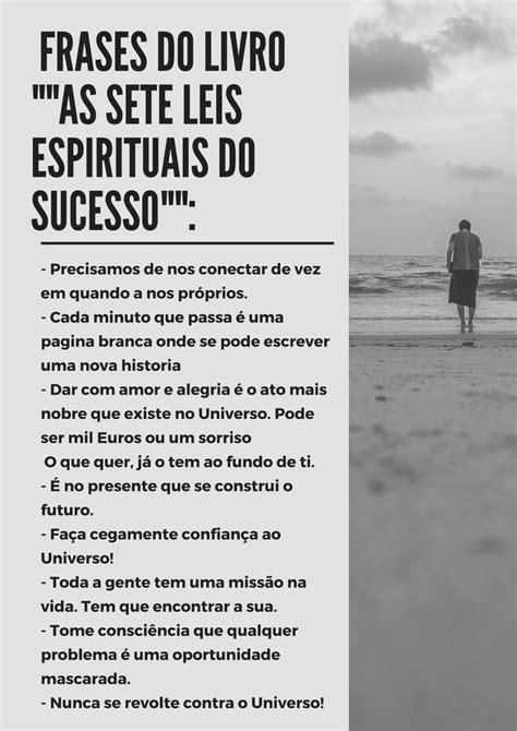 Resumo do livro «As sete leis Espirituais do sucesso» de