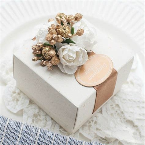libro marriage chest wedding candy box with golden flowers and beige by sweetywedding 1 99 box