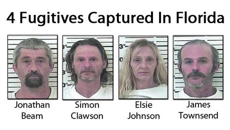 Ta Florida Marriage Records 4 Fugitives Wanted By Sheriff S Office Captured In Florida Www Elizabethton