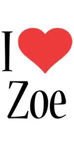 zoe logo name logo generator kiddo i love colors style