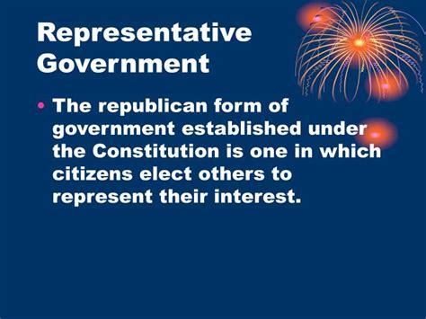 Representative Gov Ppt Democratic Values Fundamental Beliefs