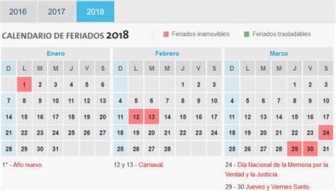 Calendario 2018 Para Imprimir Con Feriados Calendario 2018 Con Feriados De Argentina Calendario 2018