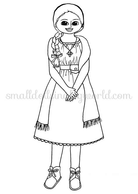 free coloring pages of american girl dolls josefinacp free 2