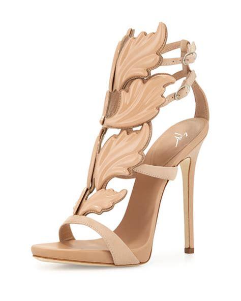 giuseppe zanotti high heels giuseppe zanotti wings suede high heel sandal fondotina