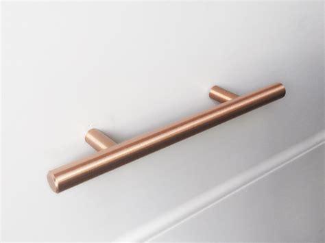 satin copper cabinet hardware 5 quot european satin copper t bar round cabinet pull drawer