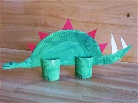 Stegosaurus Paper Plate Craft - preschool crafts for paper plate dinosaur