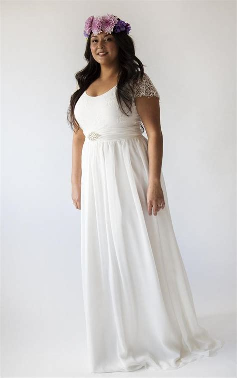 simple plus size wedding dresses cheap simple wedding dress plus size pluslook eu collection