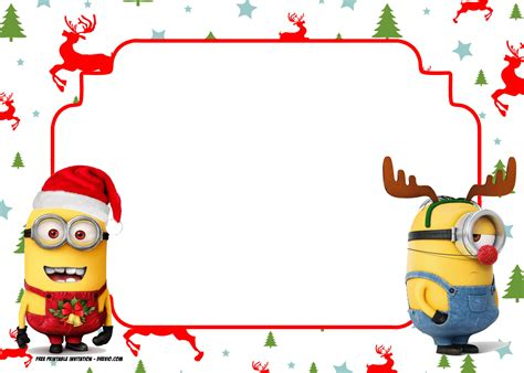 invite christmas minion free printable invitation template all characters free invitation templates drevio