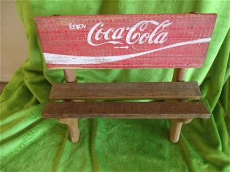 coca cola park bench vintage primitive coca cola park bench made from coke
