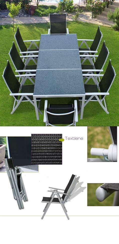 chaises salon de jardin salon de jardin alu et plateau granit 8 chaises