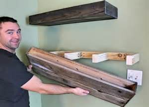 How To Make Simple Wooden Shelf Brackets by 25 Best Ideas About Wood Floating Shelves On Pinterest