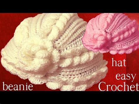 beanie o gorro tejido en crochet doovi c 243 mo tejer gorro tapestry a crochet con flores punto p