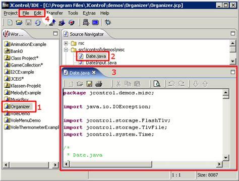 java tutorial text editor jcontrol ide editing java files