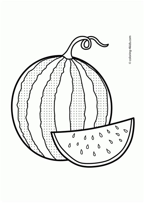 preschool watermelon coloring pages watermelon coloring page az coloring pages