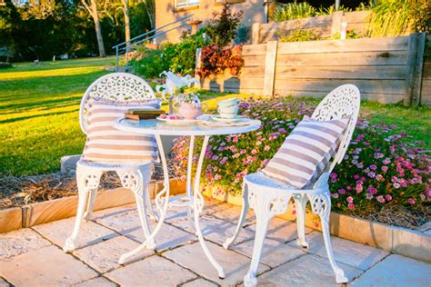 outdoor setting how to restore an outdoor garden setting the whimsical
