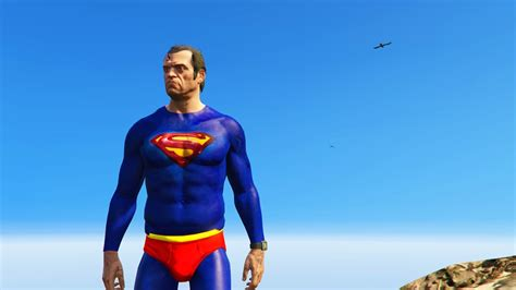 mod gta 5 superman ultimate superman mod gta 5 mods funny moments youtube