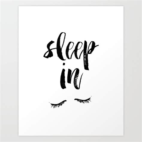printable posters black and white sleep in black and white watercolor typography print art