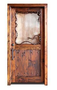 Western Interior Doors Custom Entance Cowboy Cabin Western Design Doors