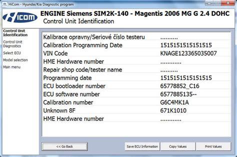genuine hicom obd2 professional diagnostic scanner hyundai kia