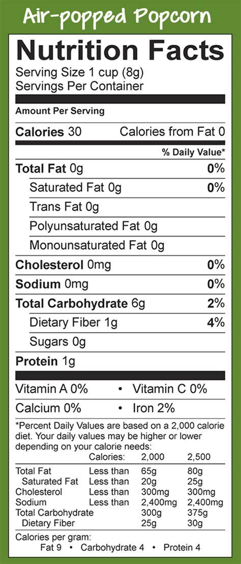 carbohydrates popcorn popcorn board gt nutrition gt popcorn nutritional information