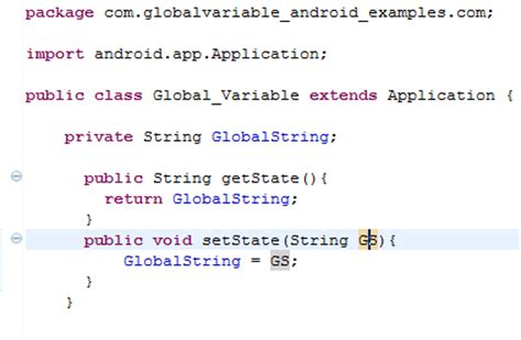 how to declare string in java declare global variable in android java eclipse studio