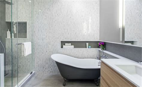 Baths And Showers For Small Bathrooms how to make shower niches work for you in the bathroom