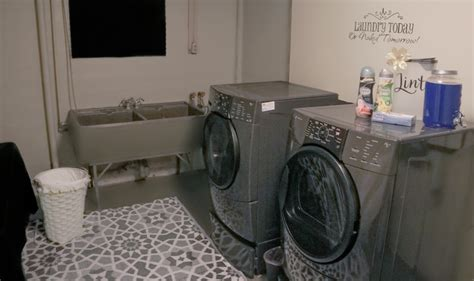 Wall Stickers Make Your Own unfinished basement laundry room ideas