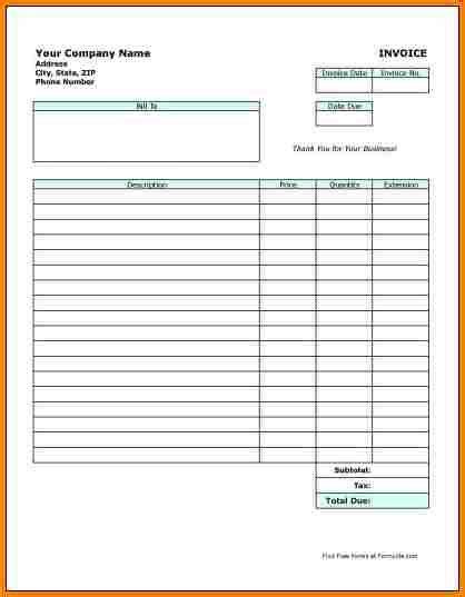 printable billing invoice form 5 free printable billing invoice forms simple bill