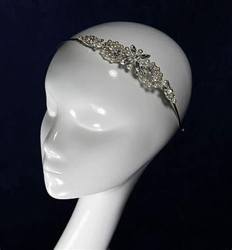 2014 new style beautiful lotus headband diamante liza designs fh8058 vintage wedding headband zaphira bridal