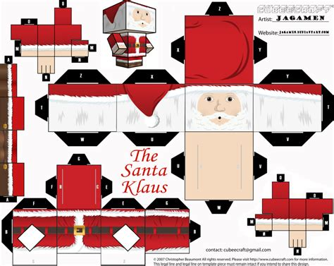 Santa Claus Paper Craft - the santa klaus cubeecraft by jagamen on deviantart