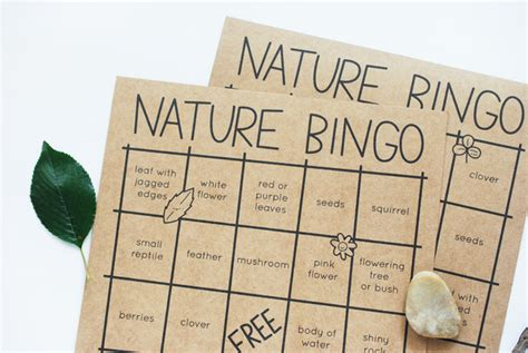 printable nature board games celebrate the great outdoors with nature bingo handmade