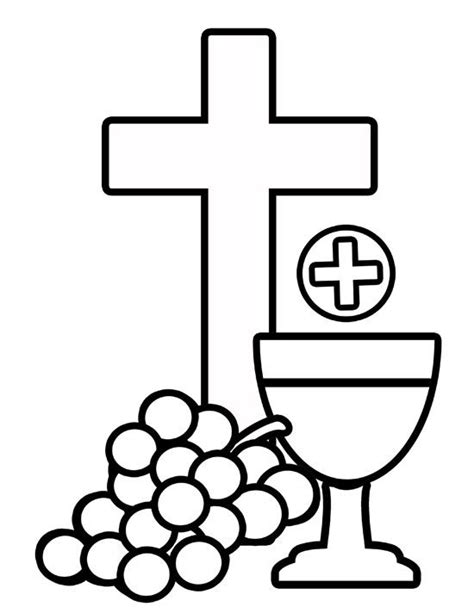 Holy Communion Printable Coloring Pages by Holy Communion Free Coloring Image Cards Communion