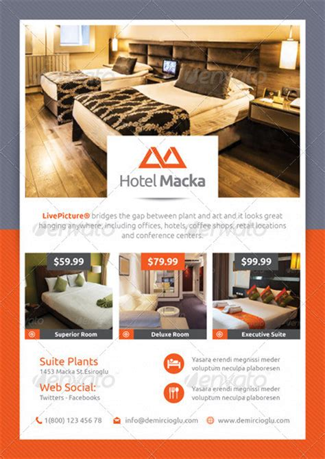 Hotel Flyer Templates Themestack Net Hotel Flyer Template