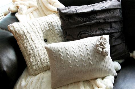 What Is The Pillow Made Of by Diy Sweater Pillows Cozy Up
