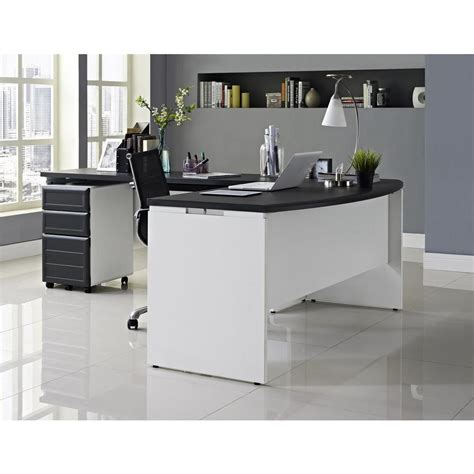 altra pursuit u shaped desk altra furniture altra pursuit white and gray desk with