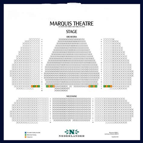 marquis theatre seating map marquis theatre