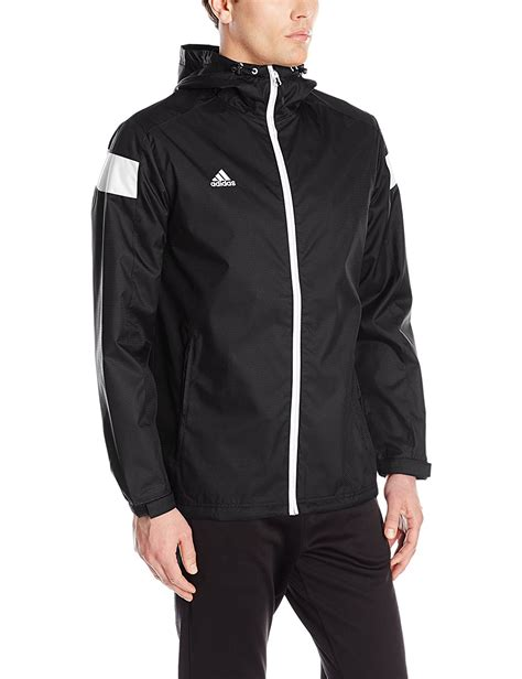 Jaket Outware Navy Original adidas mens climaproof shockwave zip jacket hooded windbreaker black navy ebay