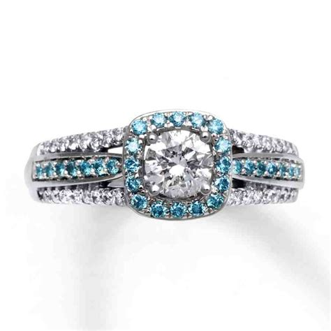 light blue engagement rings wedding and bridal