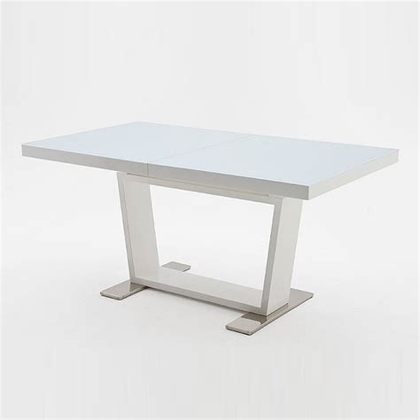White Glass Dining Tables Manhattan Extendable Dining Table With White Glass And