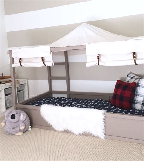 diy ikea bed ikea kura bed hack diy boy canopy bed harlow thistle
