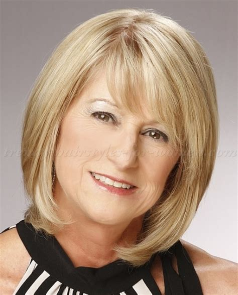 mid lengh hairstyles for over 50 with fringe medium length bob hairstyles for over 50 hairstyles