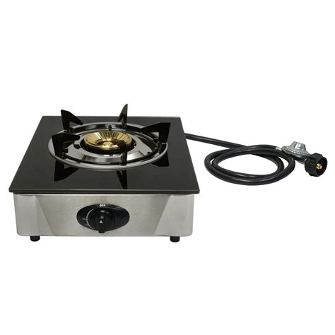 propane gas cooktop 12 quot x 14 quot single propane gas stove 1burner tempered glass