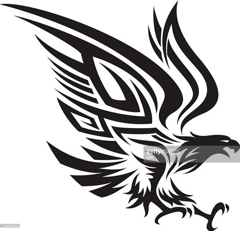 tattoo eagle vector eagle in tribal style vector art eagle and tattoo