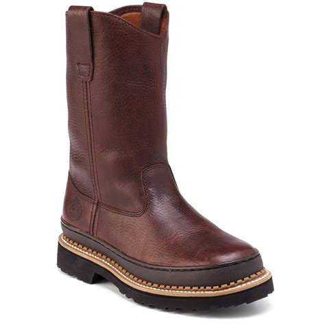 comfortable wellingtons women s georgia 174 giant wellington boots red brown