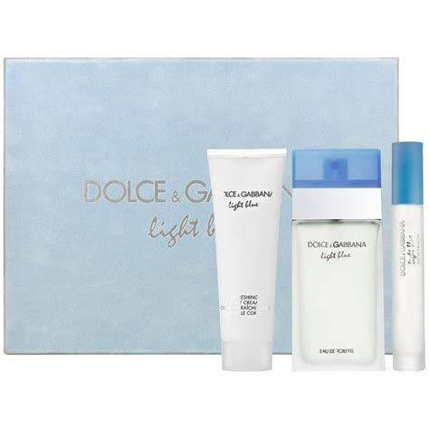 dolce and gabbana light blue gift set for shop dolce gabbana light blue s 3 fragrance