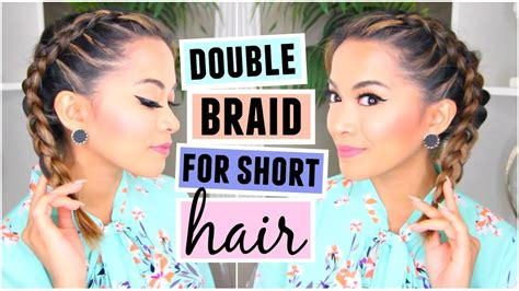 double dutchfrench braid  short hair hairstyle youtube