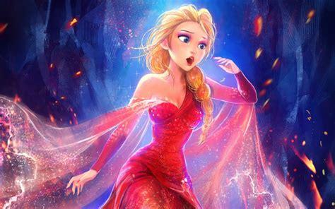 wallpaper queen elsa beautiful frozen hd fantasy